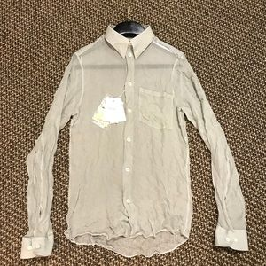 Helmut Lang Rare Vintage See Thru Dress Shirt 2003